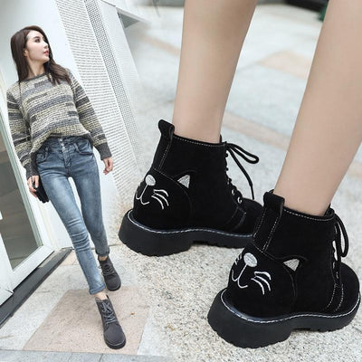 Sweet Cat Ankle Martin Boots