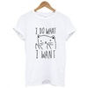 I DO WHAT I WANT Hipster Cat Tee-T-Shirts-FreakyPet