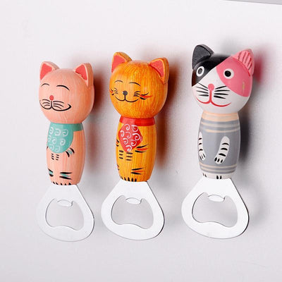Handcrafted Wooden Cat Bottle Openers-Openers-FreakyPet