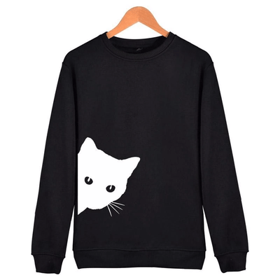 Peek A Boo Kitty Sweatshirt-Hoodies & Sweatshirts-FreakyPet