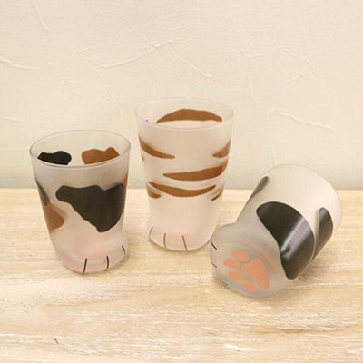 Handpainted Milky Cat Paw Glasses