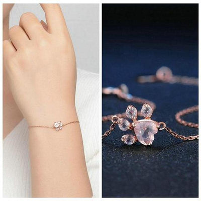 3pc 925 Silver Rose Gold Jewelry Set-FreakyPet