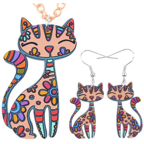 Corinna Cat 2pc Jewelry Set new