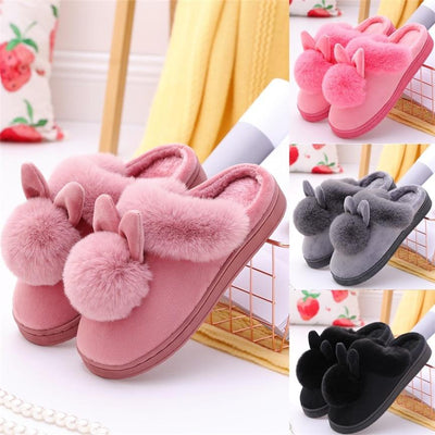 Cute Fluffy Pom Pom Slippers-FreakyPet