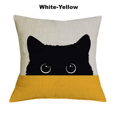 Bi-Color Peek A Boo Cushion Cover-FreakyPet