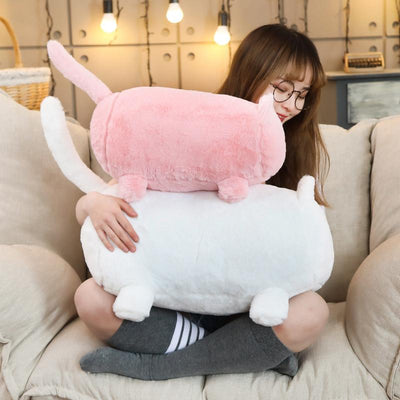 Cute Soft Cat Shaped Sofa Plush Pillows