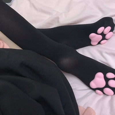 Cat Pawpads Long Knee Stockings