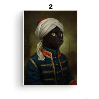 Royal Cats Canvas Wall Art Decor (Unframed)-FreakyPet