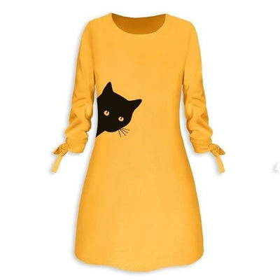 Peeking Kitty Cat Dress-FreakyPet