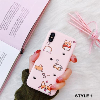 Pink Corgi Phone Case-Fitted Cases-FreakyPet