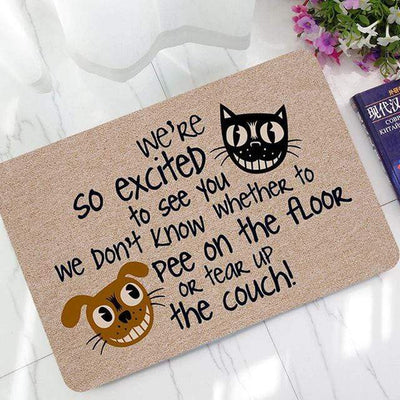 Homely Cat & Dog Anti-Slip Doormat-Mat-FreakyPet