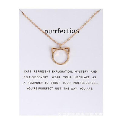 Purrfection Cat Necklace-Pendant Necklaces-FreakyPet