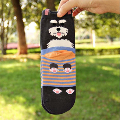 Cute Cotton Dog Socks