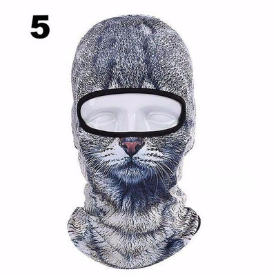 3D Cat Winter Outdoor Mask-Skullies & Beanies-FreakyPet