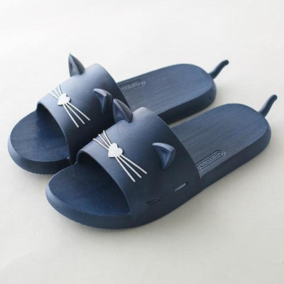 Vibrant Cat Summer Slippers