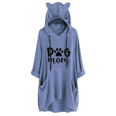 Dog Mom Oversize Hoodie With Dog Ears-FreakyPet