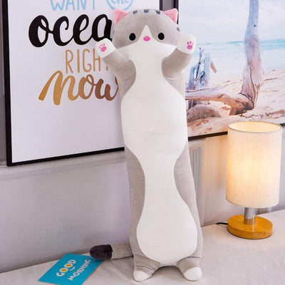 Cute Long Cat Sofa Plush Pillows-Stuffed & Plush Animals-FreakyPet