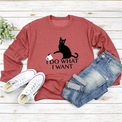 I D0 WH4T I W4NT Long Sleeve Sweatshirt-Home-FreakyPet