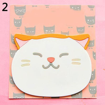 6pc Cat Silicone Insulation Coaster-Mats & Pads-FreakyPet