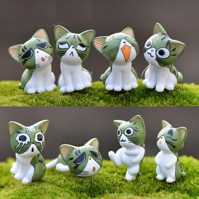 8pc Miniature Cat Home Decor-Figurines & Miniatures-FreakyPet
