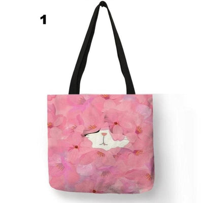 Watercolor Kitty Shoulder Bag-Top-Handle Bags-FreakyPet