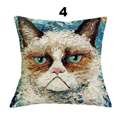 Crazy Cartoon Cat Decor Cushion Covers