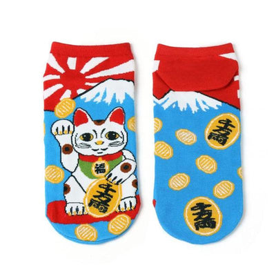 Lucky Cat Graphic Socks