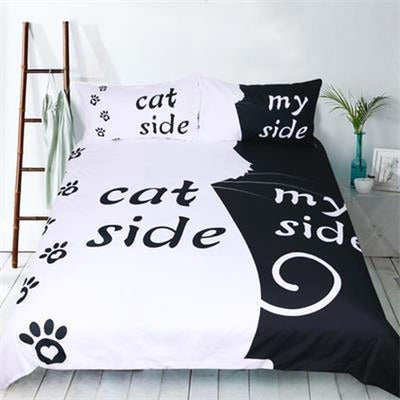 "3pcs ""Cat/Dog vs Human"" Bedding Set-Bedding Sets-FreakyPet"