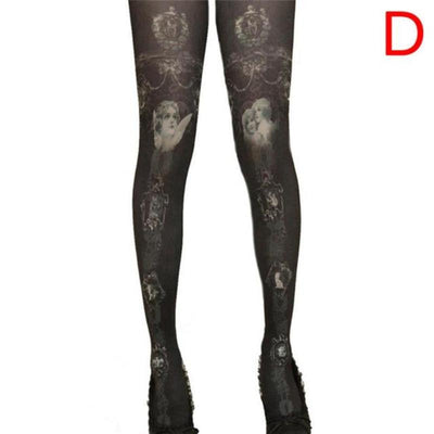Vintage Look Cat Pantyhose