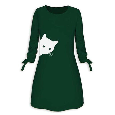 Peaking Kitty Cat Dress