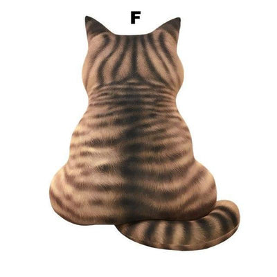 Soft And Cute 3D Cat Shape Plush Sofa Pillows-FreakyPet