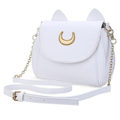 Sailor Moon Luna Cat Shoulder Bag-Top-Handle Bags-FreakyPet