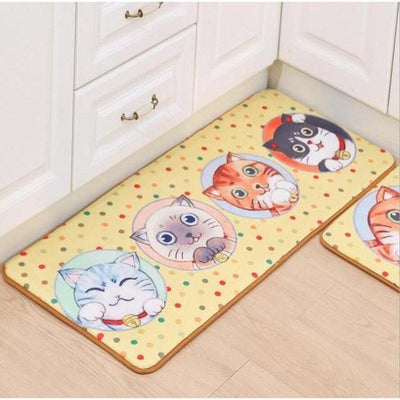 Silly Cat Anti-Slip Doormats-Mat-FreakyPet