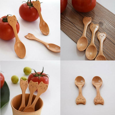 4pc Cat Wooden Spoon-FreakyPet
