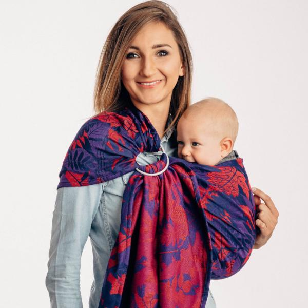 Lenny Lamb Ring Sling with Gathered Shoulder - Whiff of Autumn - Equinox