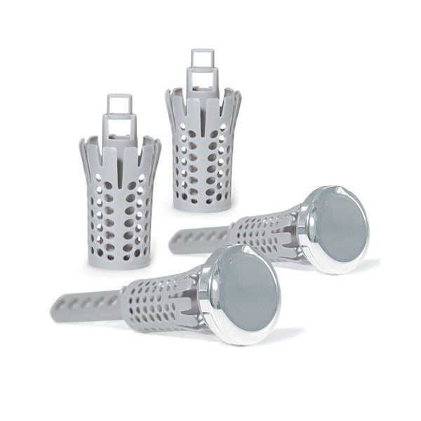 Chrome Sink Drain Strain  2-Pack + 2-Basket Special