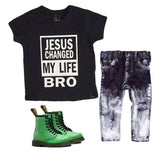 JESUS CHANGED MY LIFE BRO | Faithbased Shirt