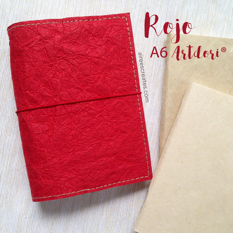 A6 ArtDori® - Gutsy® Travelers Notebook COVER ONLY (Rojo)