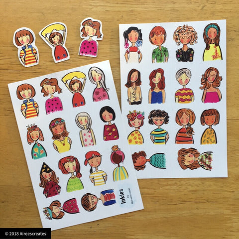 Inkies Sticker Sheets