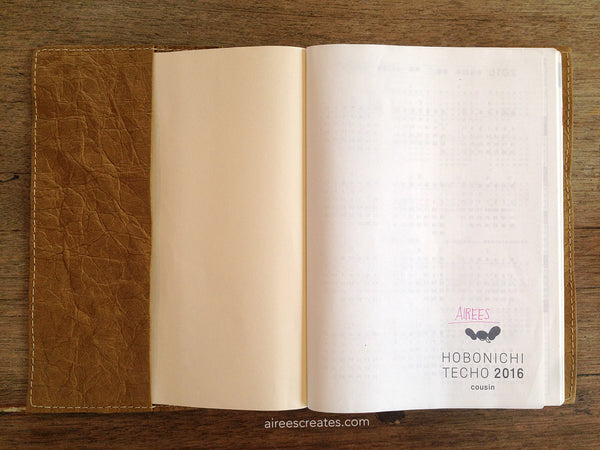 Gutsy® Cover for Hobonichi Cousin (A5) - Camello