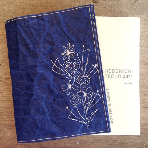 {Hand-painted} Gutsy® Cover for Hobonichi - Azul 2