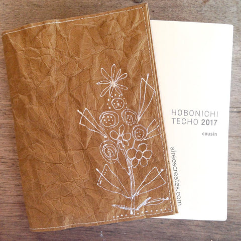 {Hand-painted} Gutsy® Cover for Hobonichi - Camello 1