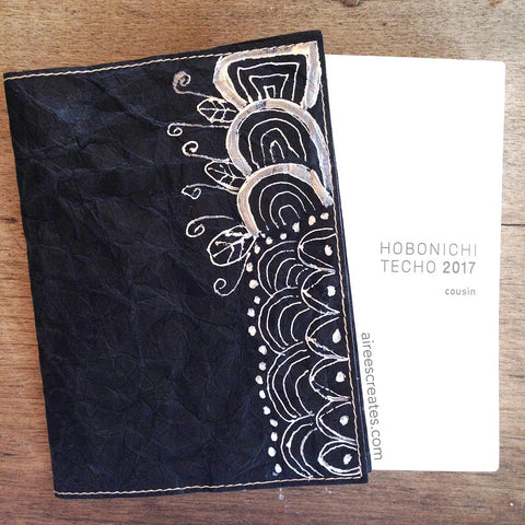 {Hand-painted} Gutsy® Cover for Hobonichi - Nero 1