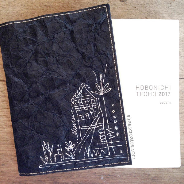 {Hand-painted} Gutsy® Cover for Hobonichi - Nero 2
