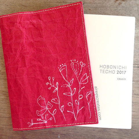 {Hand-painted} Gutsy® Cover for Hobonichi - Rojo 1