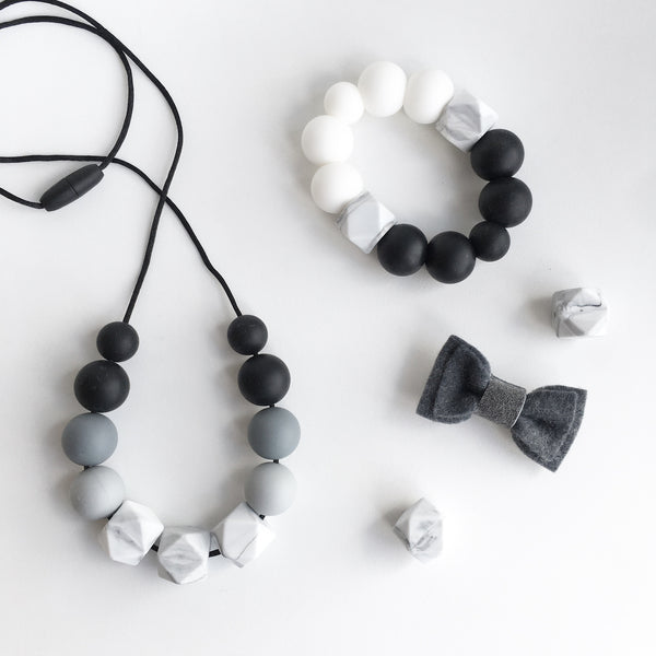 Marble Grey Ombre Necklace - Grace and Parker