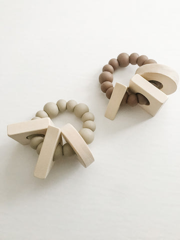 Cavern Collection - Shapes Teether - Grace and Parker