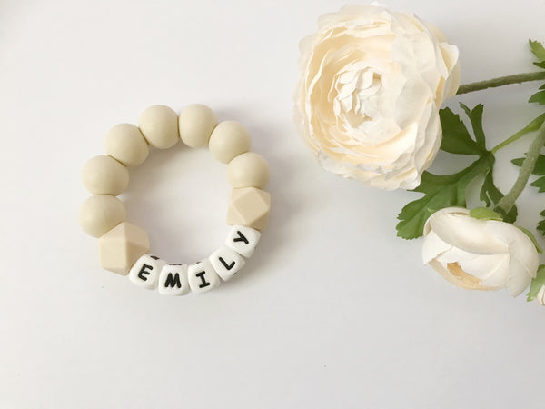 SIMPLY Personalized Teething Ring - Grace and Parker