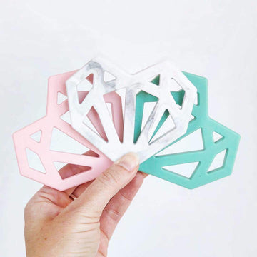 Geometric Heart Teether - Grace and Parker