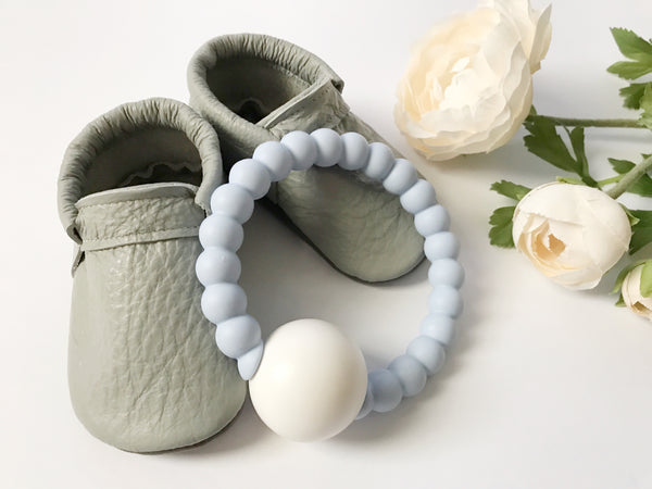 Silicone Teether Rattle - Grace and Parker